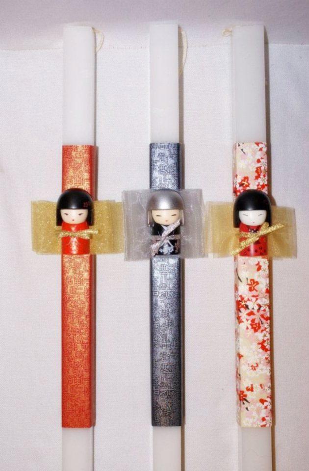 Λαμπάδα με Φιγούρες Ιαπωνικού Στυλ