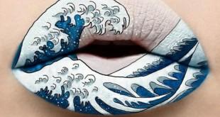 Μακιγιέρ Δημιουργεί στα Χείλη της Εντυπωσιακά Έργα Τέχνης (Φωτό)
