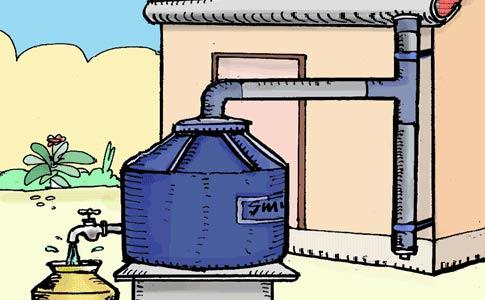 Απλό βαρέλι αποθήκευσης βρόχινου νερού