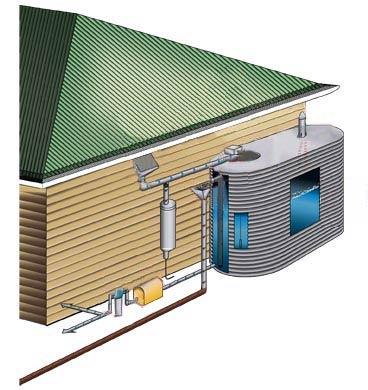 Διάγραμμα εγκατάστασης συστήματος συλλογής βρόχινου νερού