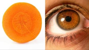 Τρόφιμα που μοιάζουν με μέρη του σώματος - Καρότο και Μάτι