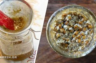 Συνδυάστε Χαμομήλι με Μέλι για Αντιμετώπιση Παθογόνων, Χαλάρωση & Ανακούφιση του Πονόλαιμου