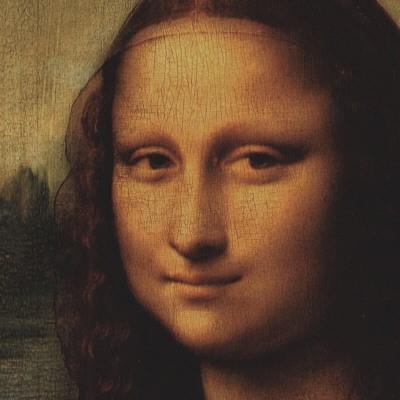 Λεπτομέρεια με το πρόσωπο της Μόνα Λίζα