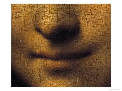 Λεπτομέρεια της περιοχής του στόματος στην οποία φαίνονατι οι σκιές της τεχνικής sfumato