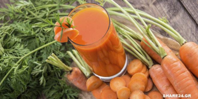 Χυμός Καρότου! Δείτε τι Συμβαίνει στον Οργανισμό Μας Όταν Πίνουμε Χυμό Καρότου Κάθε Μέρα!
