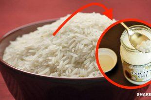 Μαγειρεύοντας το ρύζι με λάδι καρύδας μειώνουμε τις θερμίδες στο μισό